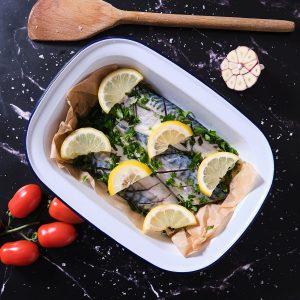 Mackerel - whole oven ready with Lemon