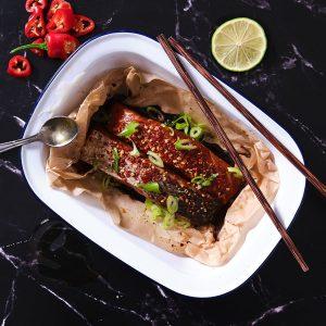 Salmon Honey, Soy & Chilli