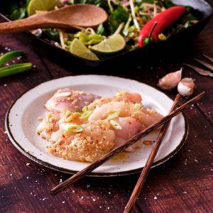Sweet Chilli Lime & Ginger Monkfish Goujons