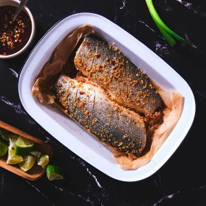 Seabass - WHOLE oven ready with Sweet Chilli & Lime